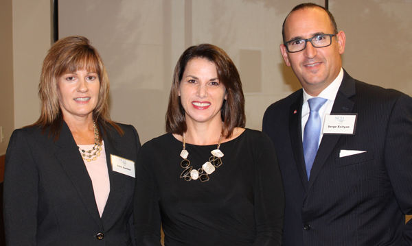 Photo of NCH Seminar for Professional Advisors' featured speaker Amy K. Kanyuk, Esq., with BMO Wealth Management sponsor representatives Julie Ann Garber and Serge Ecityan.